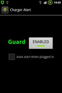 Charger Alert Screenshot