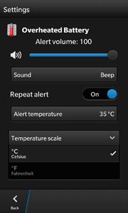 Charger Alert - Settings Screenshot