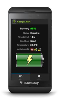 Charger Alert on BlackBerry Z10 screenshot