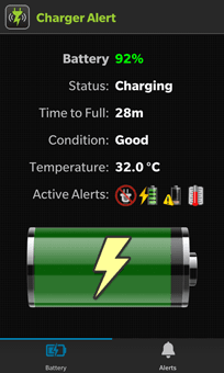Charger Alert battery screenshot