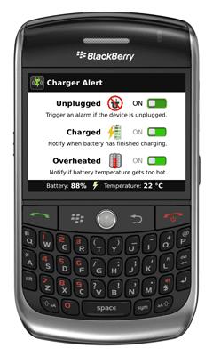 Charger Alert for BlackBerry OS